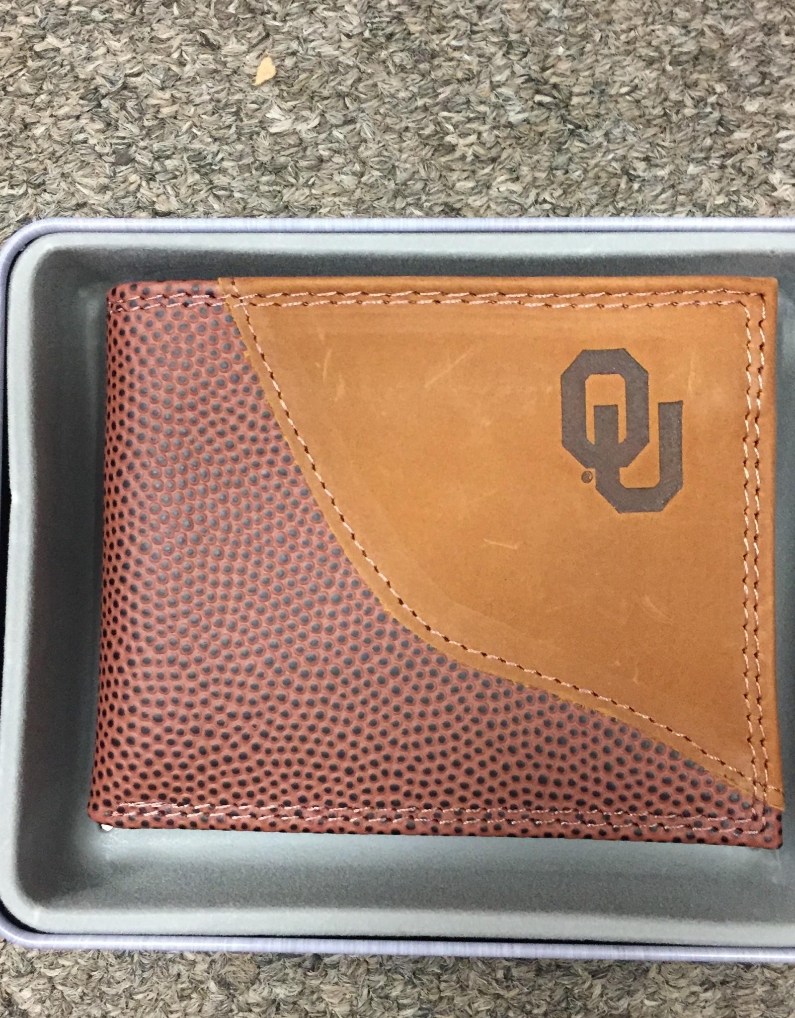Zep-Pro Zep-Pro Football Grain Passcase Embossed Wallet