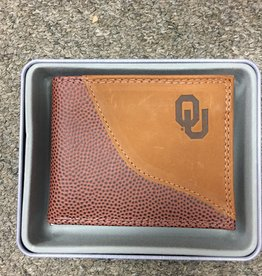 Zep-Pro Zep-Pro Football Grain Passcase Embossed Wallet
