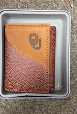 Zep-Pro Zep-Pro Football Grain Trifold Embossed Wallet