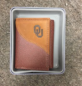 Zep-Pro Zep-Pro Football Grain Trifold Embossed Wallet