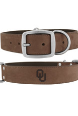 Zep-Pro Zep-Pro OU Embossed Lt. Brown Leather Dog Collar