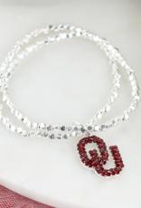 Seasons Jewelry OU Crystal Stretch Bracelet