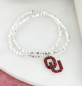 Seasons Jewelry OU Crystal Stretch Bracelet