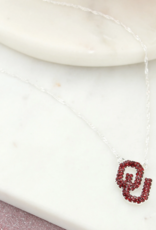 """Seasons Jewelry OU Crystal Necklace 16"""" w/ 3"""" extender"""