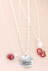 """Seasons Jewelry OU Disk Trio Necklace 16"""" w/ 3"""" extender"""