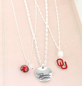 "Seasons Jewelry OU Disk Trio Necklace 16"" w/ 3"" extender"