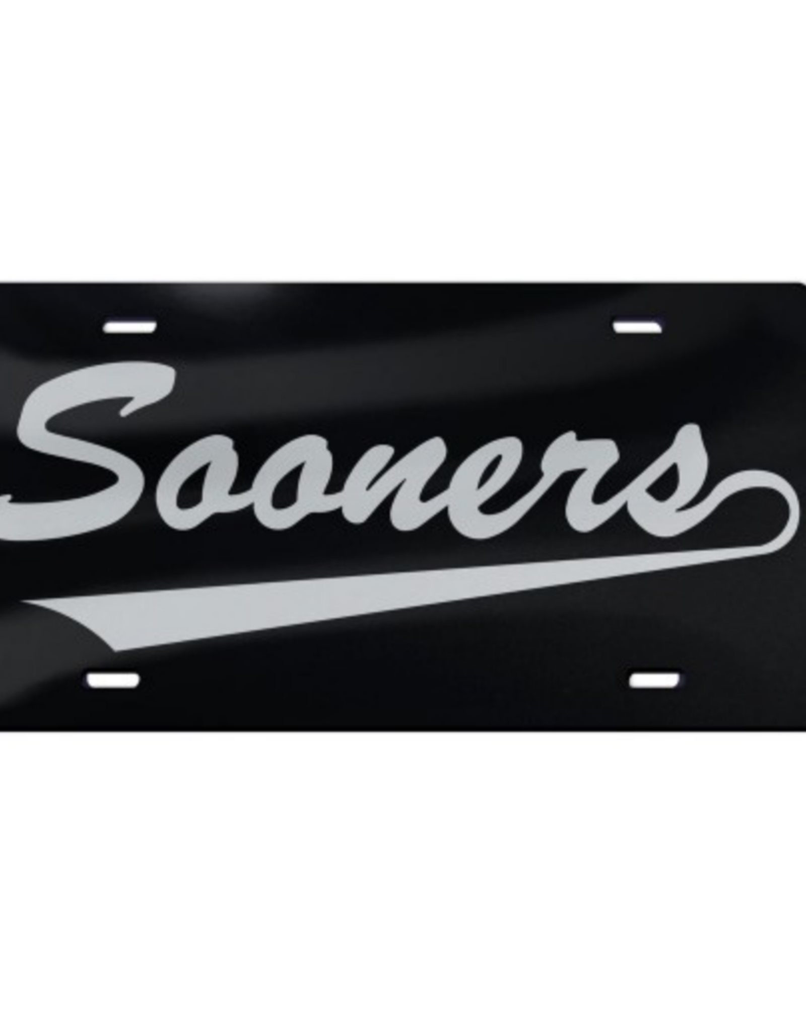 WinCraft Wincraft Sooners w/ Tail Black w/ Clear Acrylic License Plate