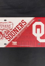 Jag Schooner/OU Tin License Plate