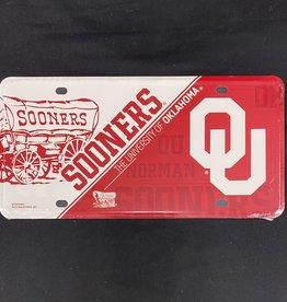 Jag Schooner/OU Tin License Plate