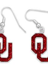 FTH FTH OU Gameday Glitter Earrings