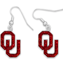 FTH FTH OU Gameday Glitter Earrings