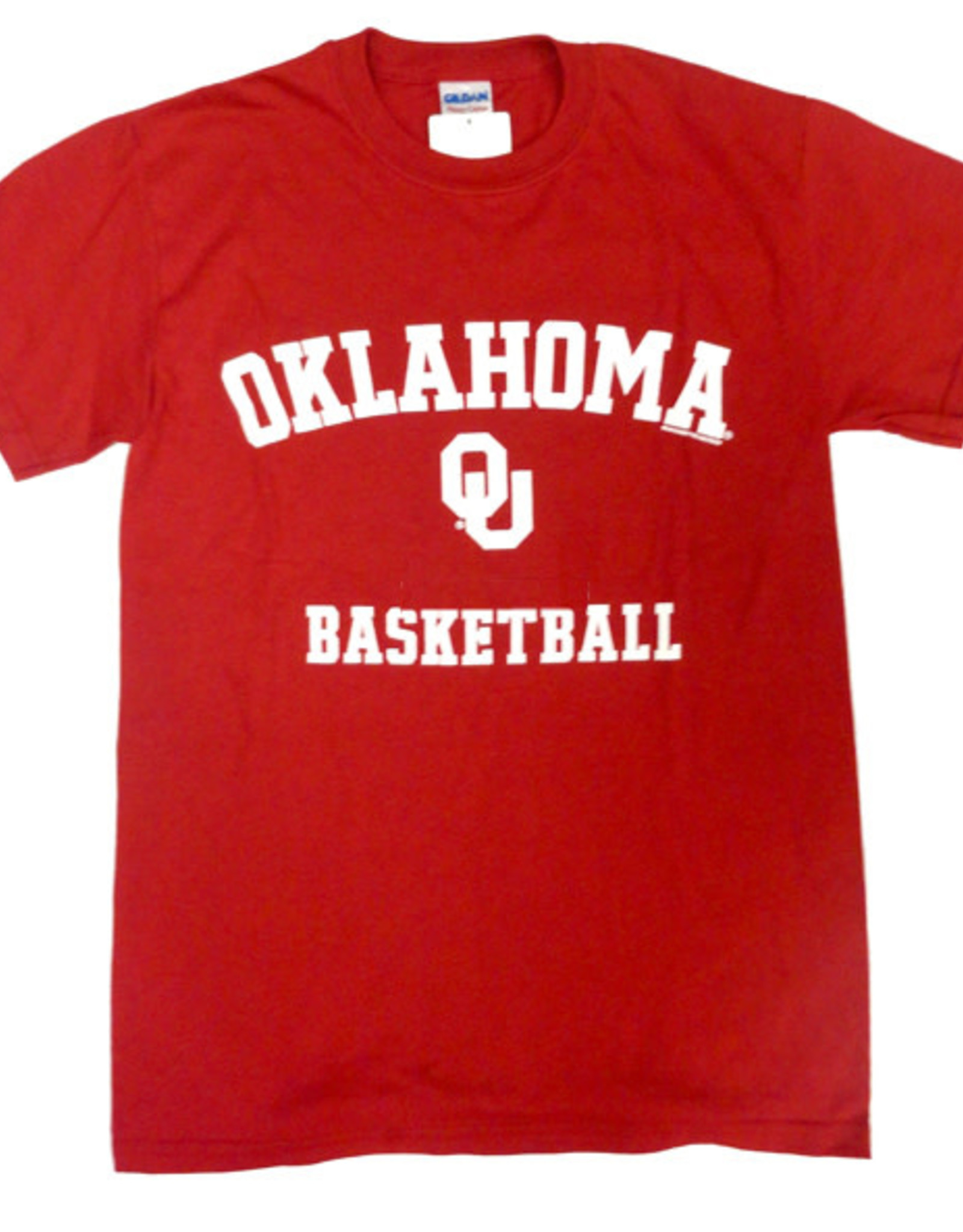 Gildan Basic Cotton Tee Oklahoma Basketball Crimson