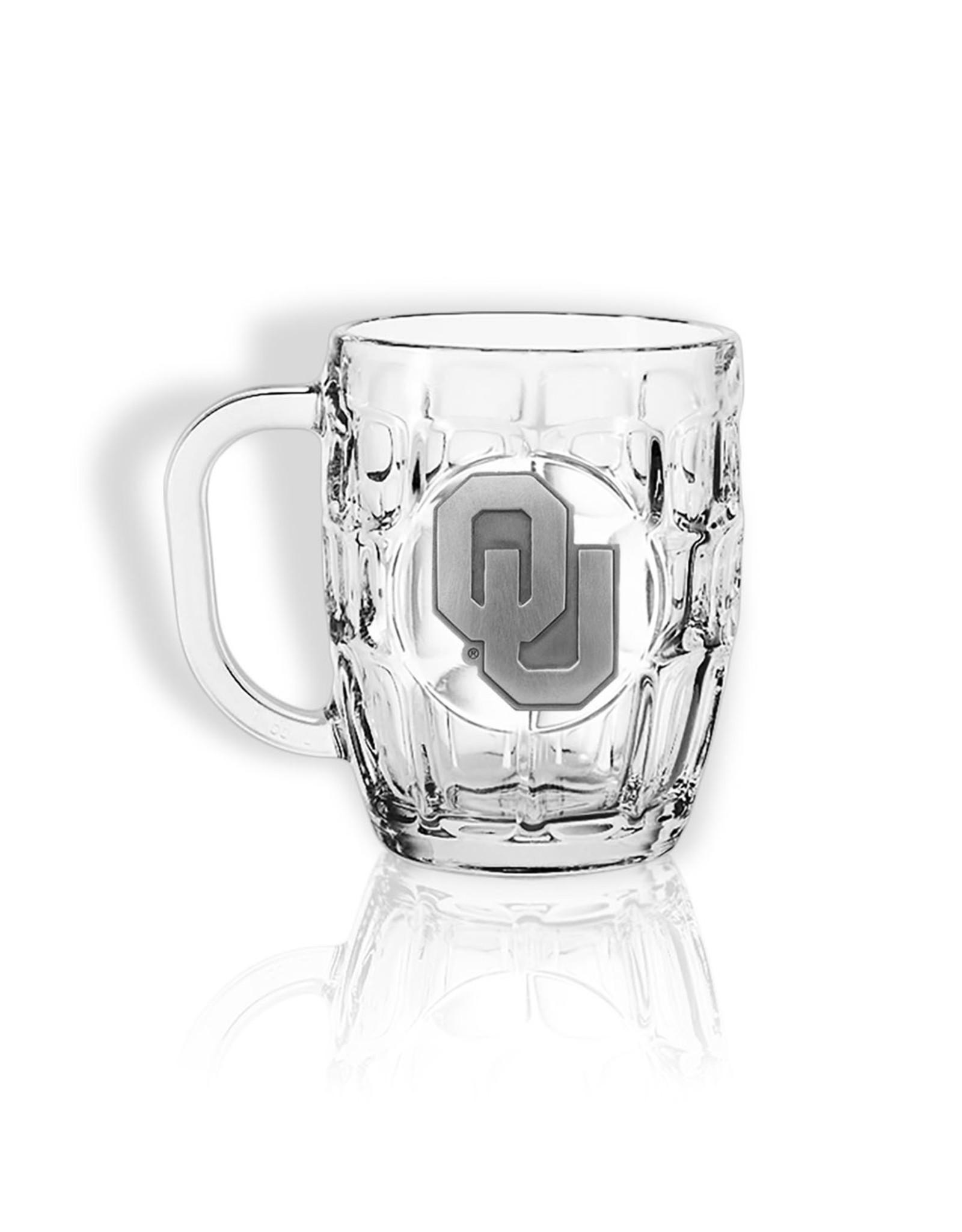 Jardine OU Dimpled Beer Mug w/ Pewter Emblem