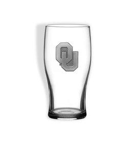Sparta OU Pub Glass w/ Pewter Emblem