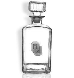 Sparta OU 32oz Square Decanter w/ Pewter Emblem