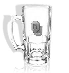 Sparta OU 1 Liter Glass Mug w/ Pewter Emblem