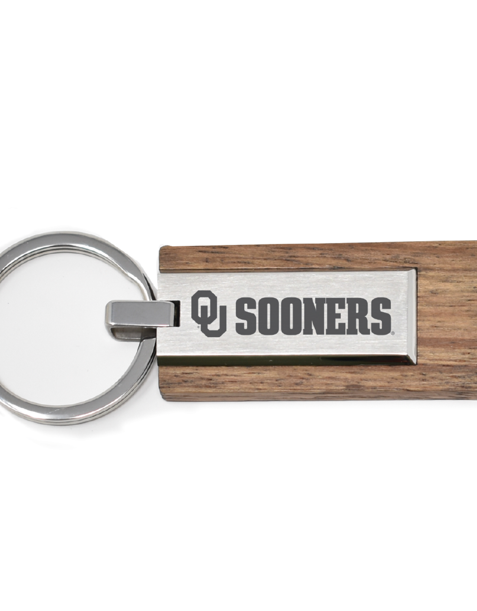 LXG LXG OU SOONERS Wood/Metal Keychain