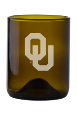 LXG LXG Etched OU 12oz Recycled Wine Bottle Glass-Amber
