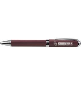 LXG LXG OU Sooners Matte Modern Ballpoint Pen-Dk Crimson