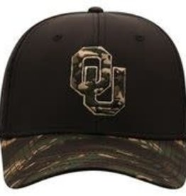 Top of the World TOW OU Rummage One Fit Black & Camo Hat