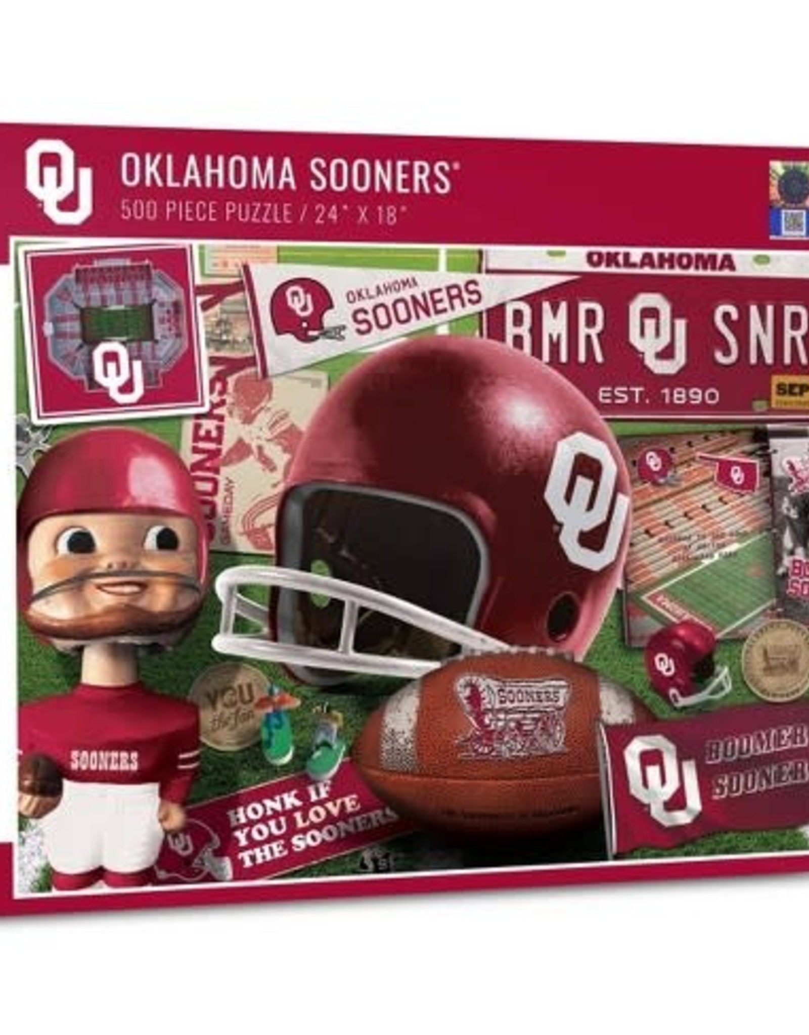 """You The Fan Oklahoma Sooners 24""""x18"""" 500 Piece Puzzle"""