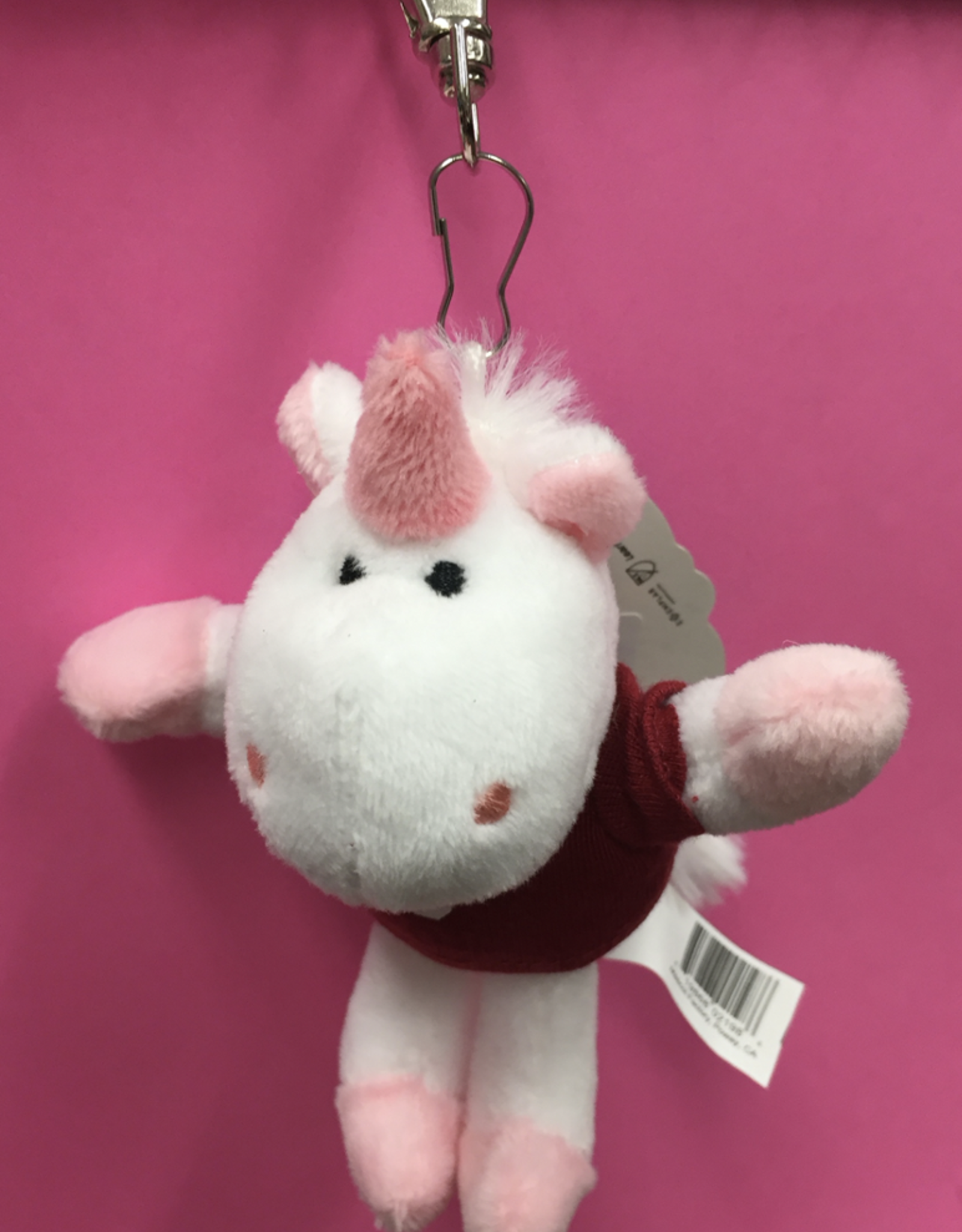Mascot Factory Keychain Unicorn w/ T-Shirt