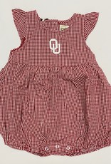 Garb Infant Jillian OU Gingham Onesie Dress
