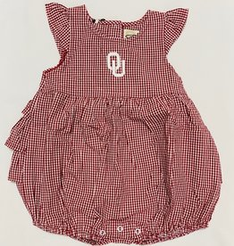 Garb Infant Jillian OU Gingham Onesie Dress
