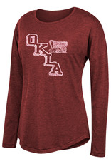 TOW Women's TOW Triblend Long Sleeve Tee-Washed Crimson