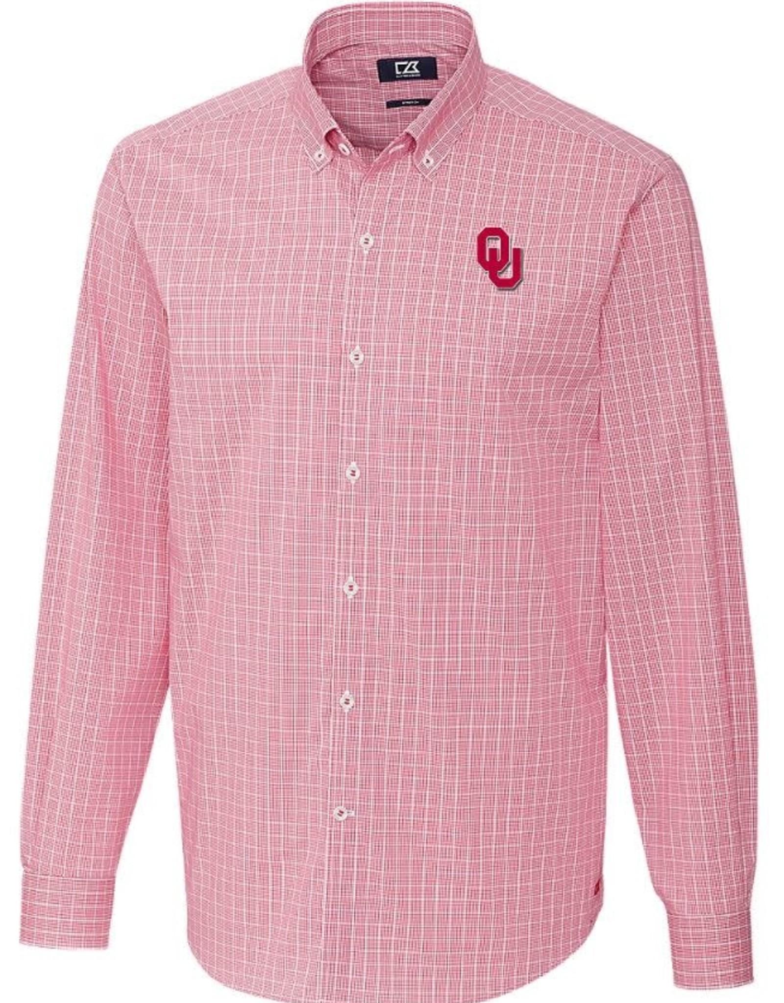 Cutter & Buck Men's Cutter & Buck OU Soar Windowpane Check Dress Shirt