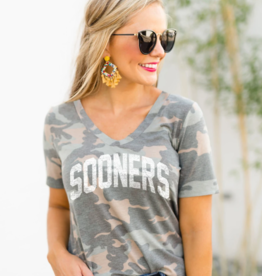 Gameday Couture Women's Gameday Couture Sooners No Hiding Camo V-Neck