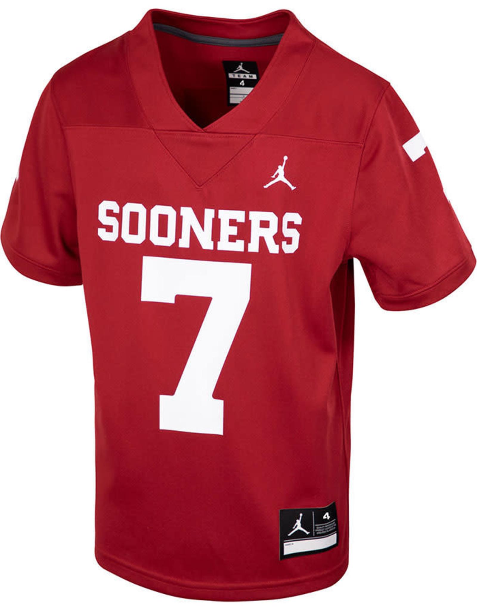 Jordan Toddler Jordan Brand #7 Sooners Football Jersey