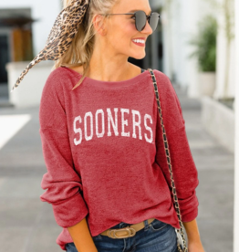 Gameday Couture Women's Gameday Couture Sooners It's A Date Chenile Pullover