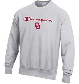 Champion Champion Oklahoma Silver Gray Reverse Weave Sweatshirt