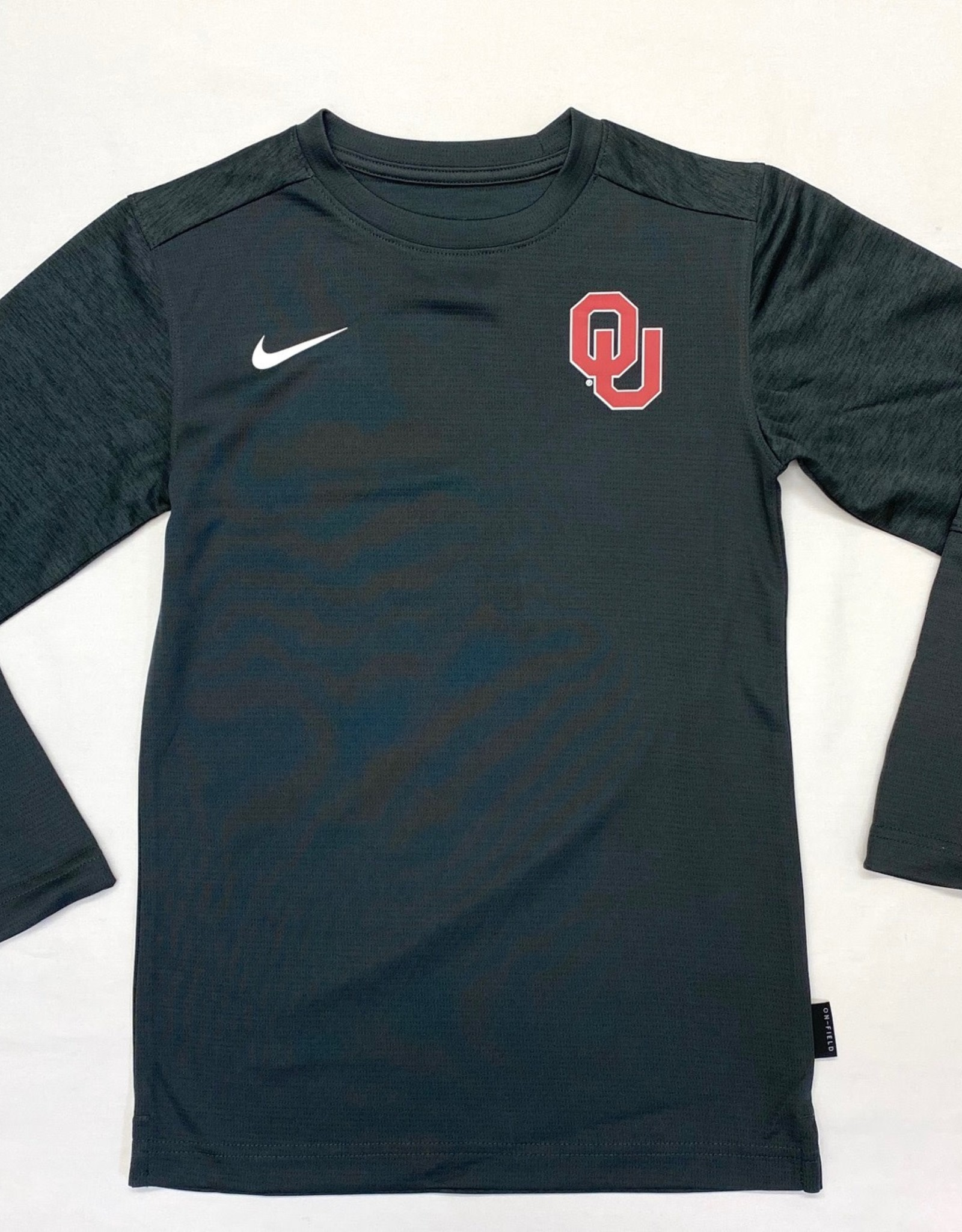 Nike Youth Nike Anthracite OU Long-Sleeve Coach Tee