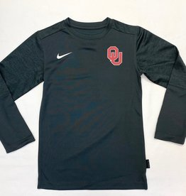 Nike Youth Nike Anthracite OU Long-Sleeve Coach Tee