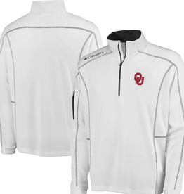 Columbia Men's Columbia OU White  Omni-Wick Shotgun 1/4 Zip
