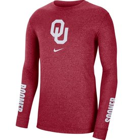 Nike Men's Nike OU Marled L/S Tee with Boomer Sooner Sleeve