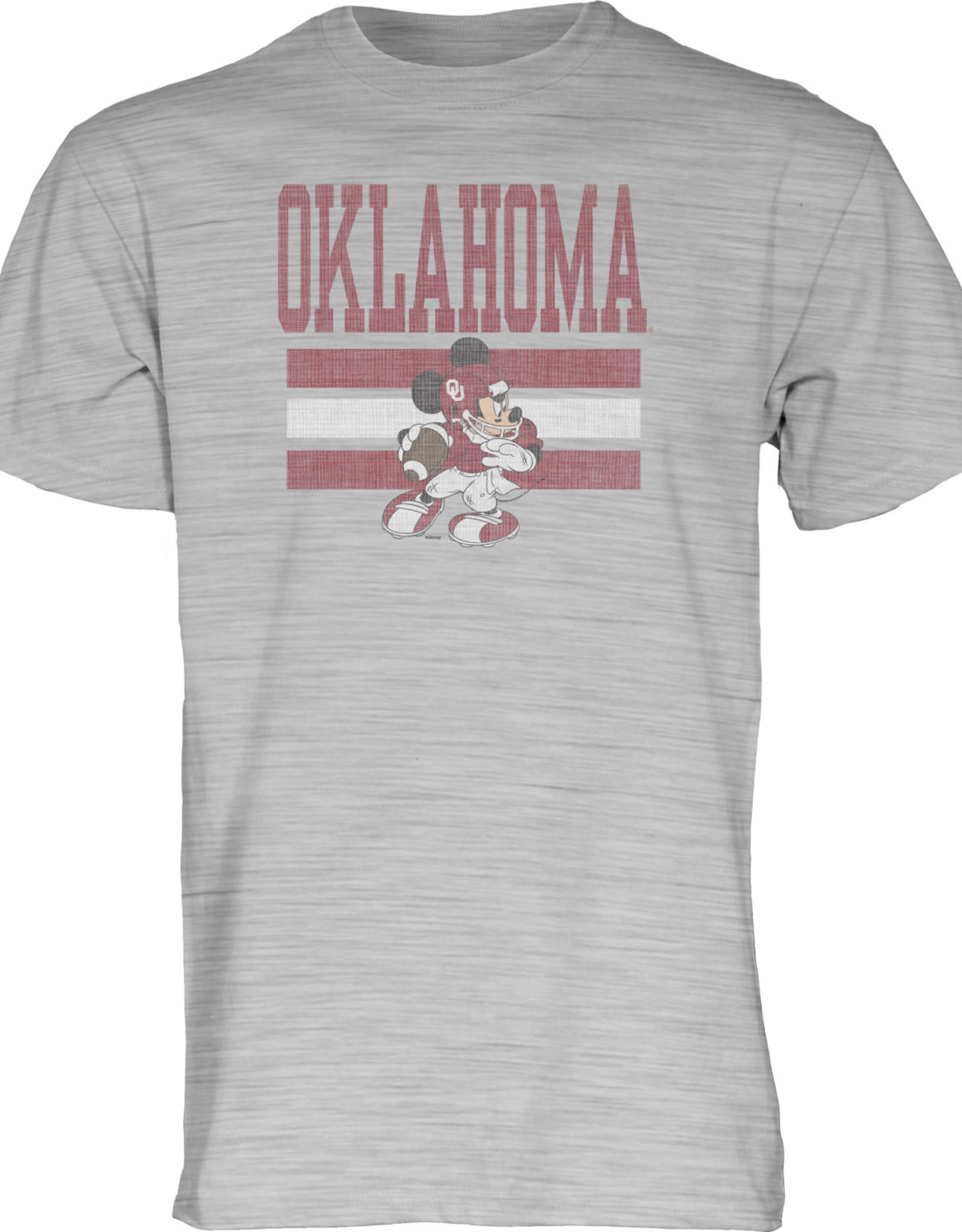 Blue 84 Adult Oklahoma  Mickey Mouse Football Tee