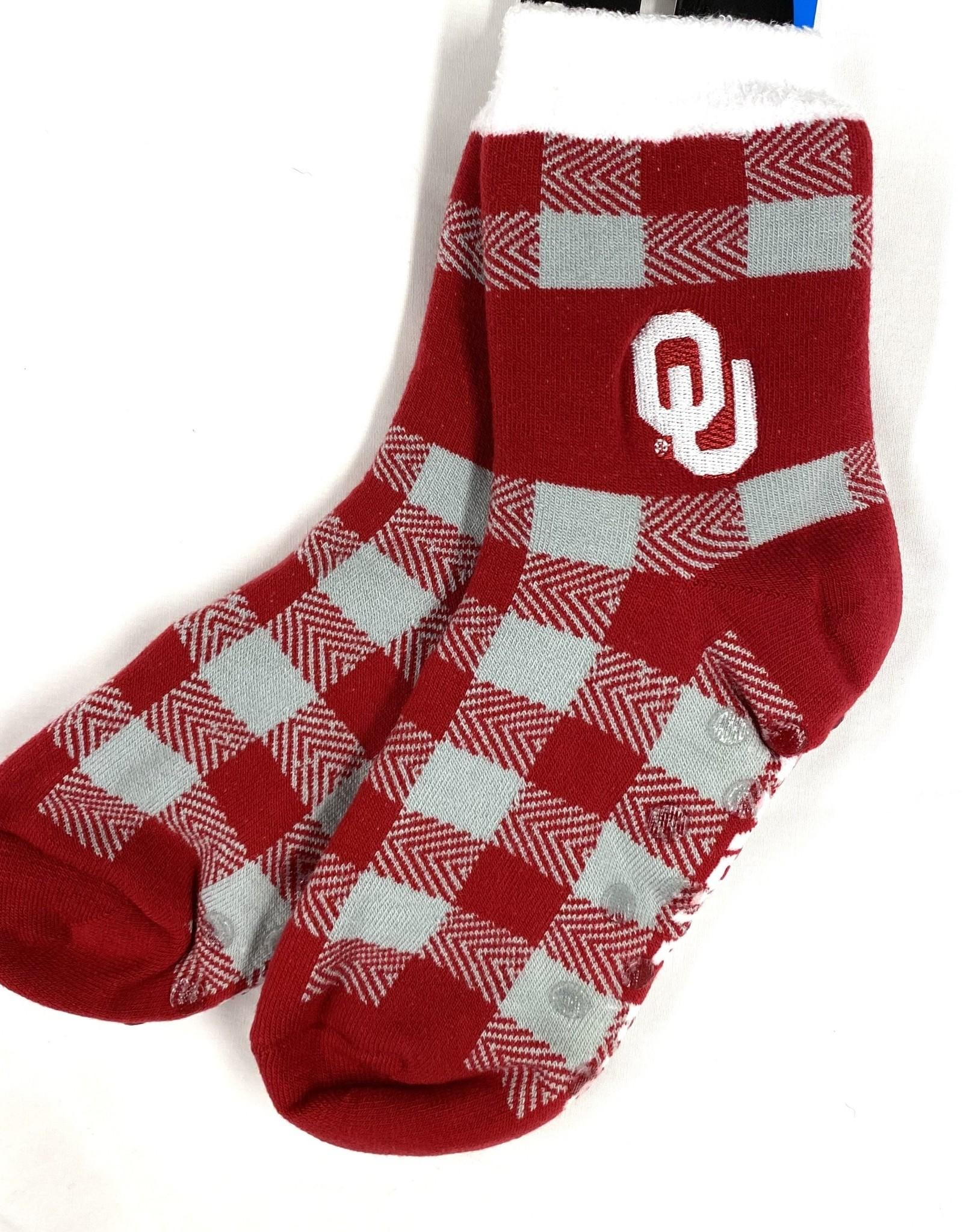 FBF FBF OU Buffalo Plaid Thick Sock