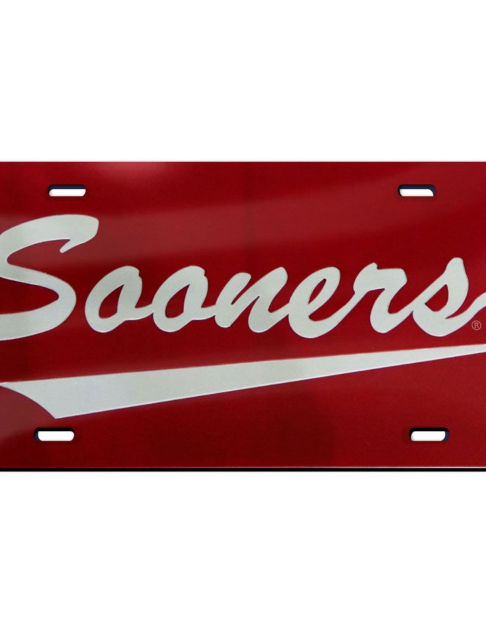 WinCraft Wincraft Sooners w/ Tail Crimson w/ Clear Acrylic License Plate
