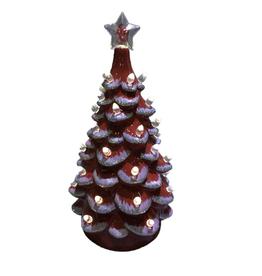 "Santa's Workshop OU 14"" Lighted Ceramic Tree"