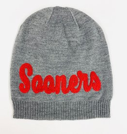 Top of the World TOW Phat Sooners Gray Uncuffed Knit Cap