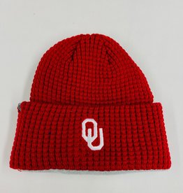 Top of the World TOW Waffles Oklahoma Crimson Knit Hat