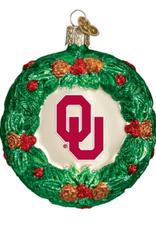 Old World Christmas OU Wreath Ornament