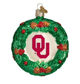Old World Christmas OU Wreath Ornament