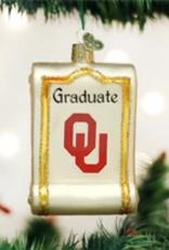 Old World Christmas OU Diploma Ornament