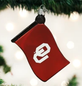 Old World Christmas OU Flag Ornament