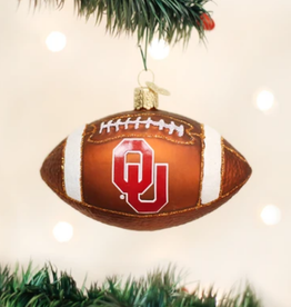 Old World Christmas OU Football Ornament