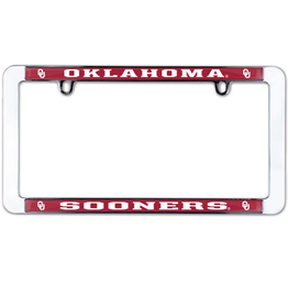 WinCraft Oklahoma Sooners Thin Rim Metal License Plate Frame